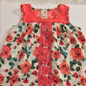 Lily Bleu Shirts & Tops - Lily Bleu Floral Lace Tank for Girls | Size: M